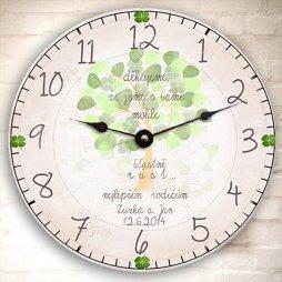 Poděkování rodičům, svatební  hodiny