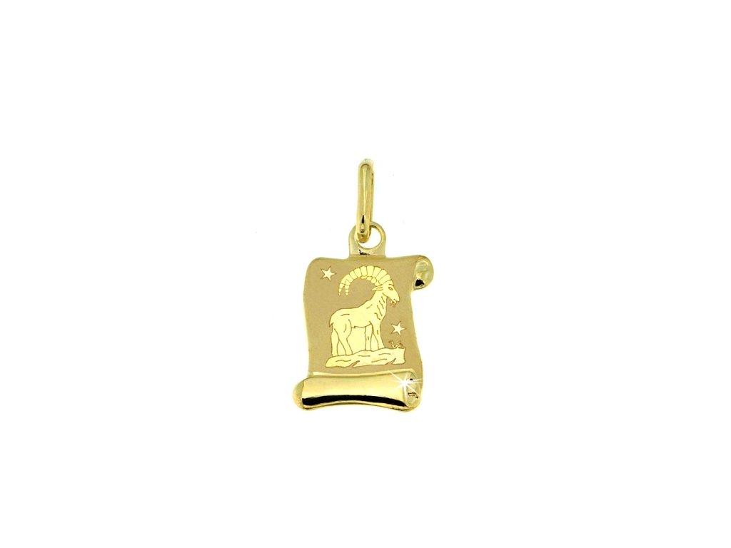 Zlatý přívěsek - znamení Kozoroh 8x12 mm 23507a123a6