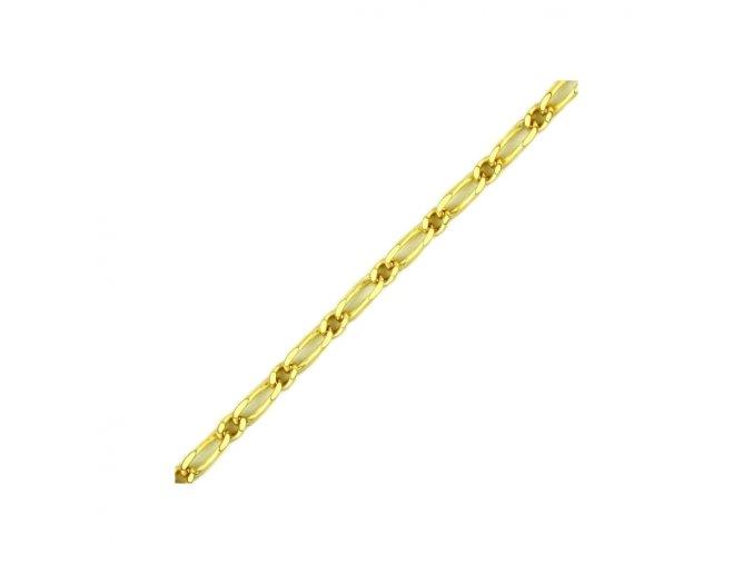 Řetízek ze žlutého zlata figaro (Délka 45 cm)