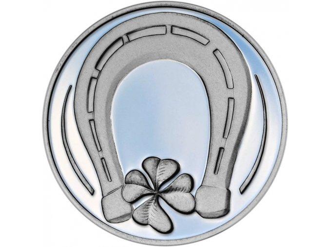 Stříbrná medaile pro štěstí