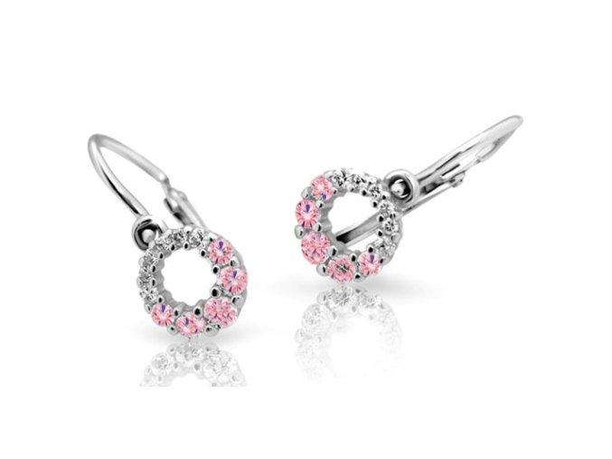 Dětské naušnice Cutie C2154-B Pink