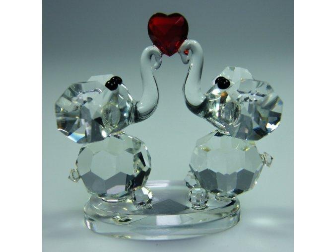 447 figurka sloni srdce lux