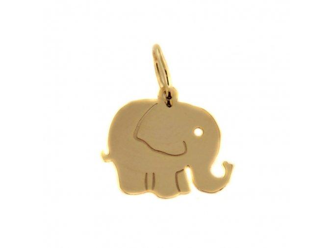 7094 1 zlaty privesek slon