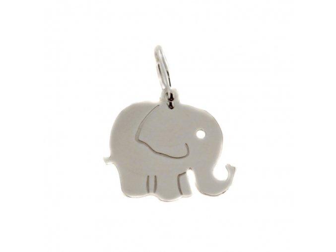 7097 zlaty privesek slon