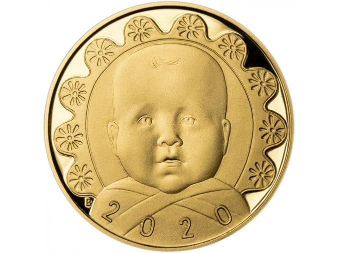 2020 Dukát k narození dítěte miminko Au proof