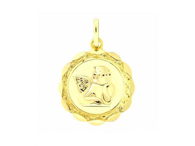 Zlatý medailonek - andílek
