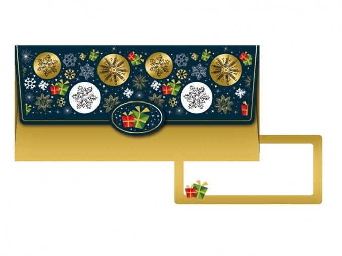 Dárková obálka vánoční (18X8,5 CM)