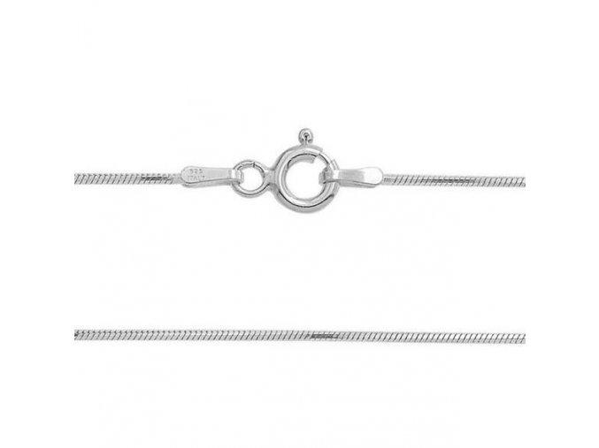 Stříbrný řetízek had 40 cm x 0,9 mm