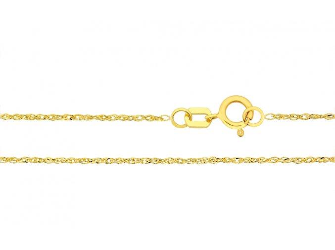 Řetízek ze žlutého zlata Lambáda Twist (Varianta: Délka 36 cm)