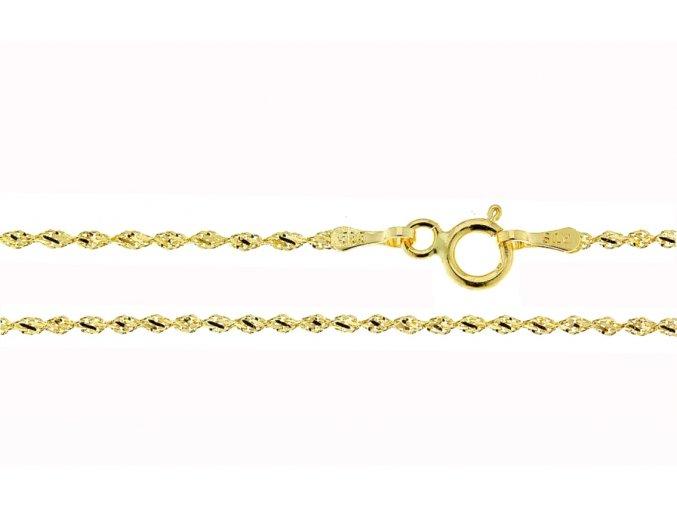 Řetízek ze žlutého zlata (Varianta: Délka 36 cm)