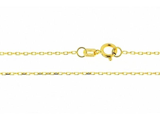 Očkový řetízek ze žlutého zlata Anker II. (Varianta: Délka 36 cm)