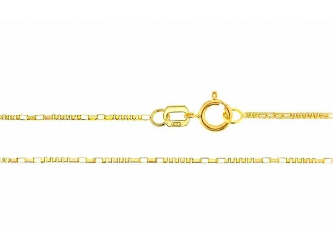 Ozdobný řetízek ze žlutého zlata II. (Varianta: Délka 36 cm)