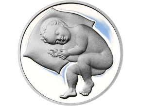 Stříbrný medailon k narození dítěte 2019