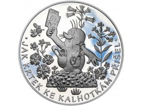 Krteček a kalhotky - stříbrný medailon pro děti