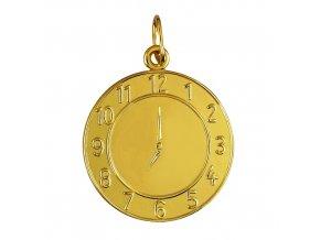 Křtící hodiny, žluté a bílé zlato (Rytina Přívěsek)
