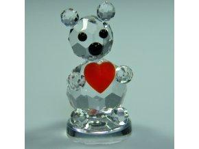 536 figurka medvidek srdce lux
