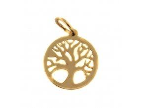 7085 3 zlaty privesek strom zivota