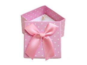 darkova krabicka na prsten ruzova bile puntiky 063508 pd