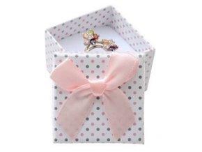 mala darkova krabicka na prsten bila sede a ruzove puntiky 076429 pd