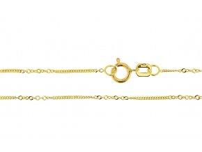 Ozdobný řetízek ze žlutého zlata I. (Varianta: Délka 36 cm)