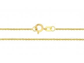 Očkový řetízek ze žlutého zlata Anker III. (Varianta: Délka 36 cm)