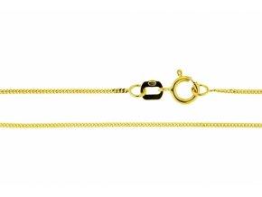 Řetízek ze žlutého zlata Pancer (Varianta: Délka 36 cm)