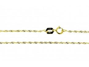 Řetízek ze žlutého zlata Lambáda I. (Varianta: Délka 36 cm)