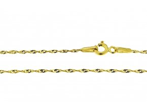 Řetízek ze žlutého zlata Lambáda II. (Varianta: Délka 36 cm)