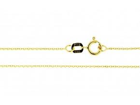 Očkový řetízek ze žlutého zlata Anker I. (Varianta: Délka 38 cm)