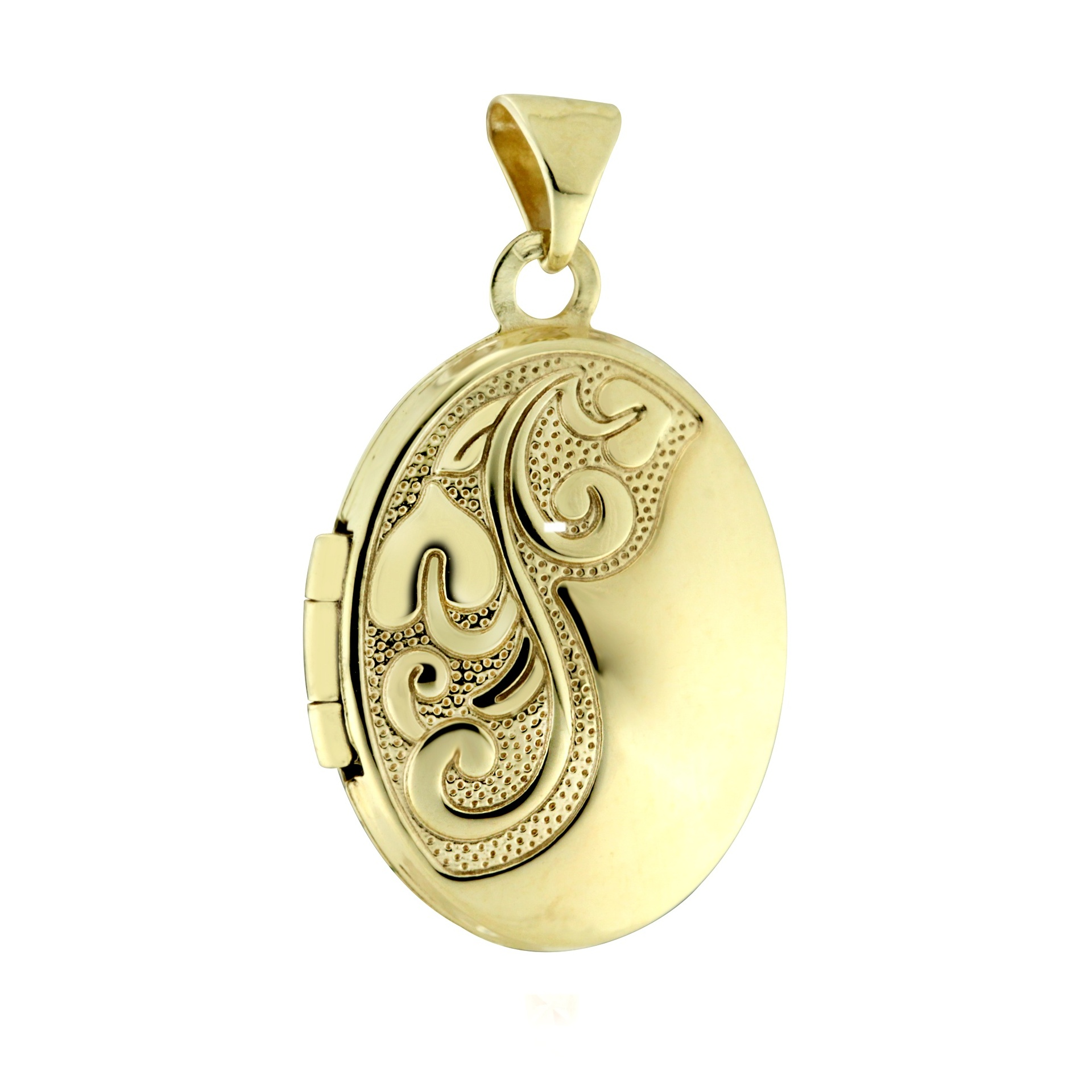 Zlatý otevírací medailonek