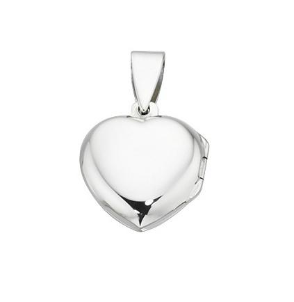 Stříbrný otevírací medailonek - srdíčko Přívěsek: bez rytiny
