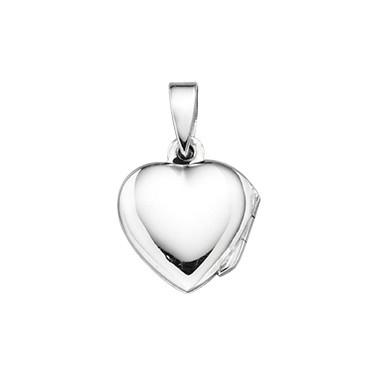 Stříbrný otevírací medailonek - malé srdíčko