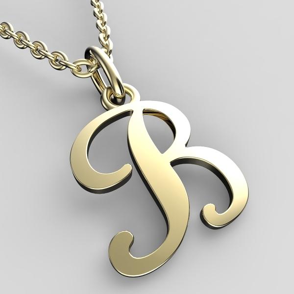 Přívěsky ze žlutého zlata - písmenka A-Z Písmeno: B
