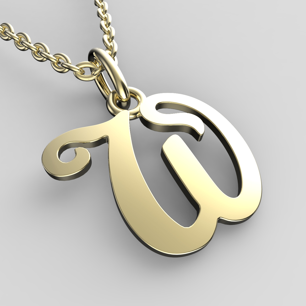 Přívěsky ze žlutého zlata - písmenka A-Z Písmeno: W