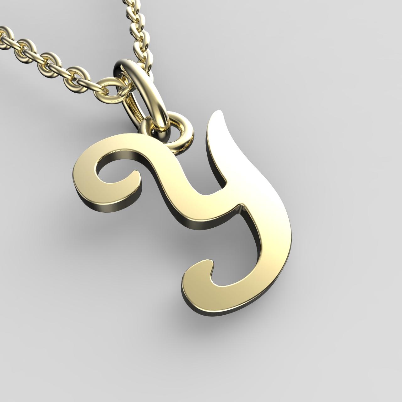 Přívěsky ze žlutého zlata - písmenka A-Z Písmeno: Y