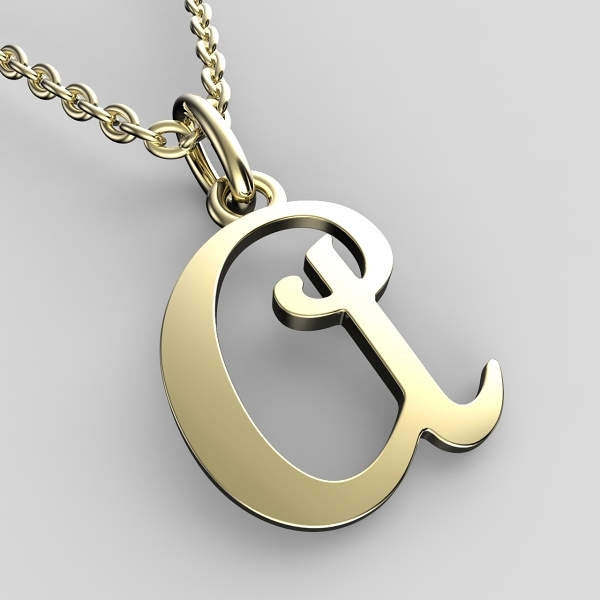 Přívěsky ze žlutého zlata - písmenka A-Z Písmeno: A