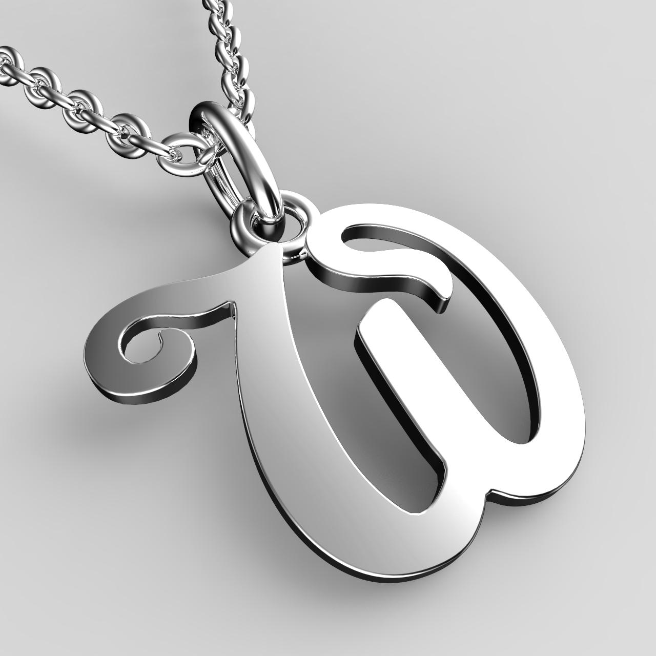 Přívěsky z bílého zlata - písmenka A-Z Písmeno: W