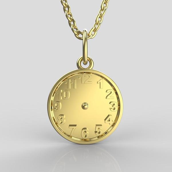 Křtící hodiny ze žlutého zlata