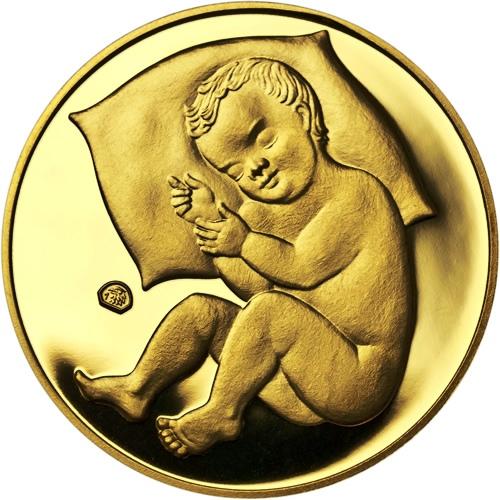 Zlatý dukát k narození dítěte 2017