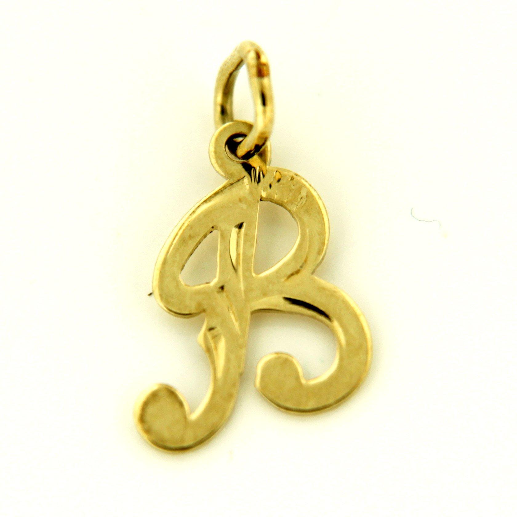 Zlaté přívěsky písmenka A - Z Písmeno: B