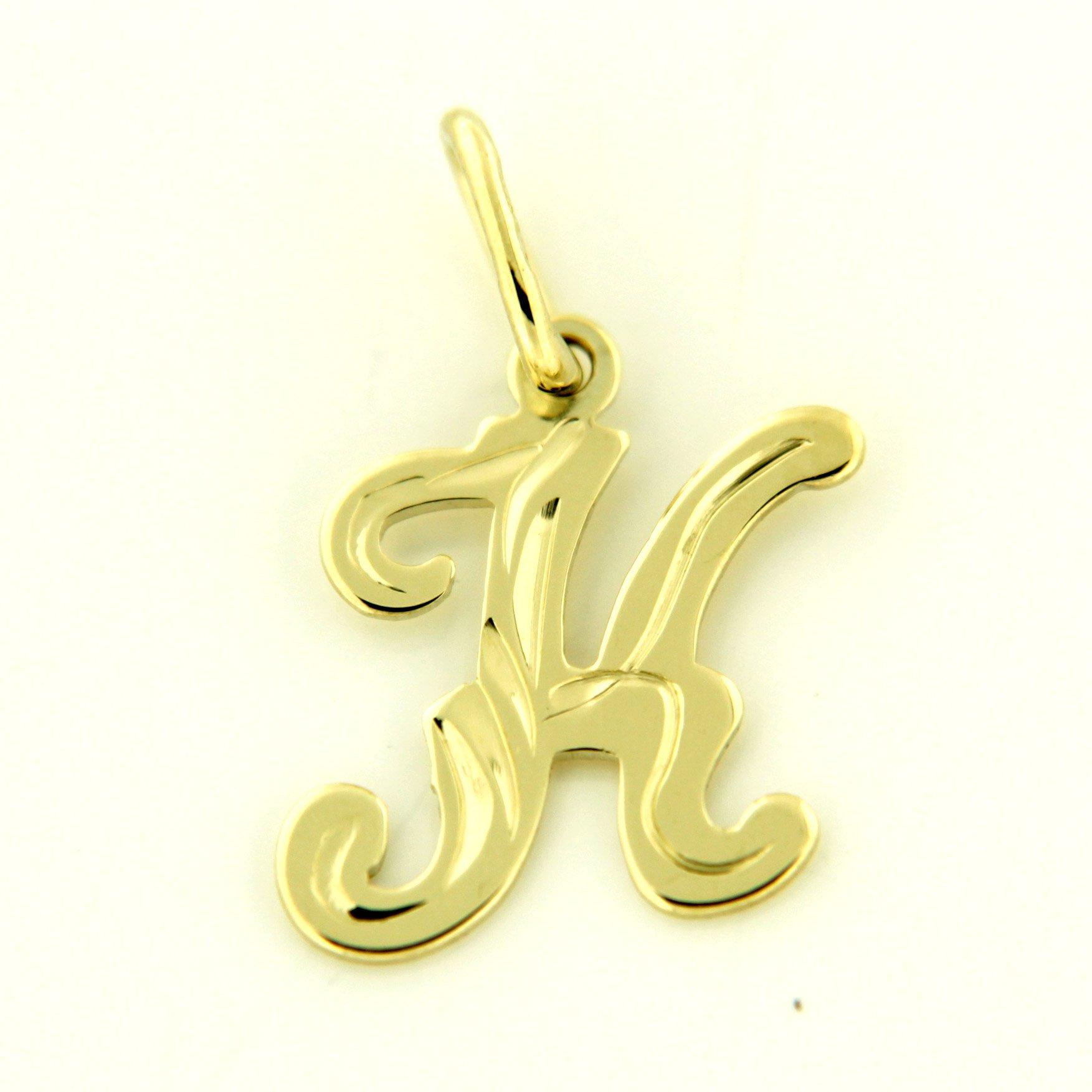 Zlaté přívěsky písmenka A - Z Písmeno: K