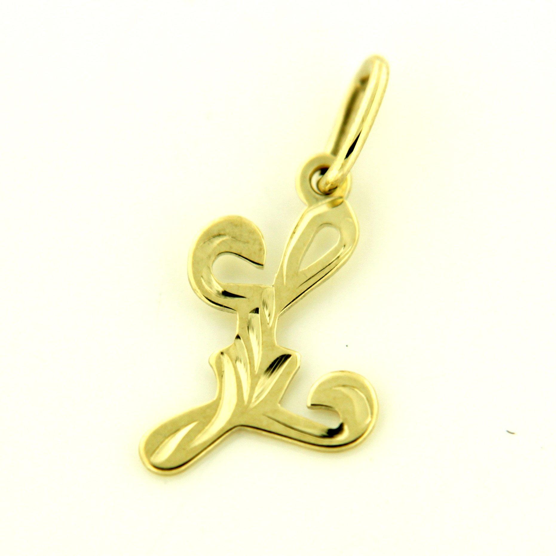 Zlaté přívěsky písmenka A - Z Písmeno: L
