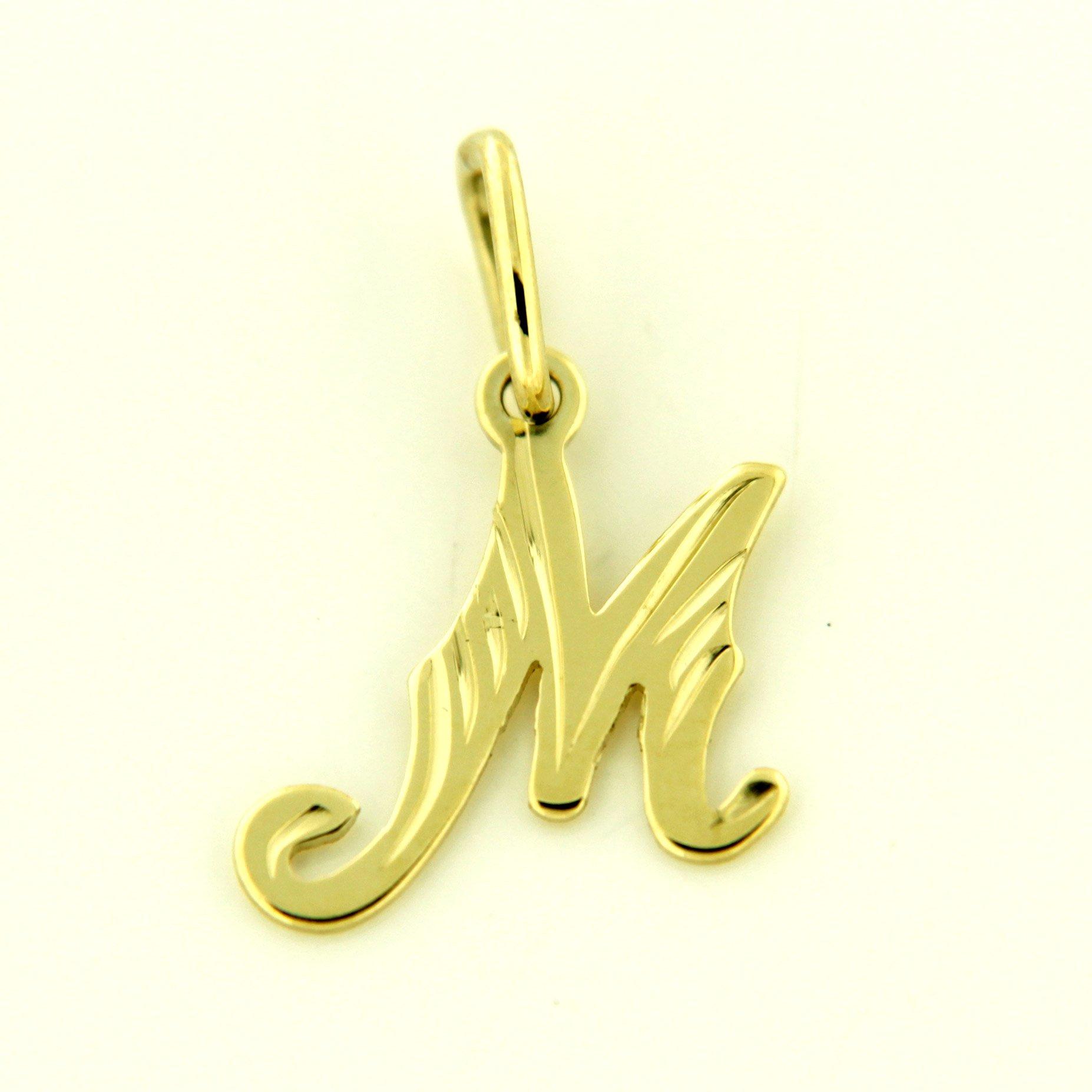 Zlaté přívěsky písmenka A - Z Písmeno: M