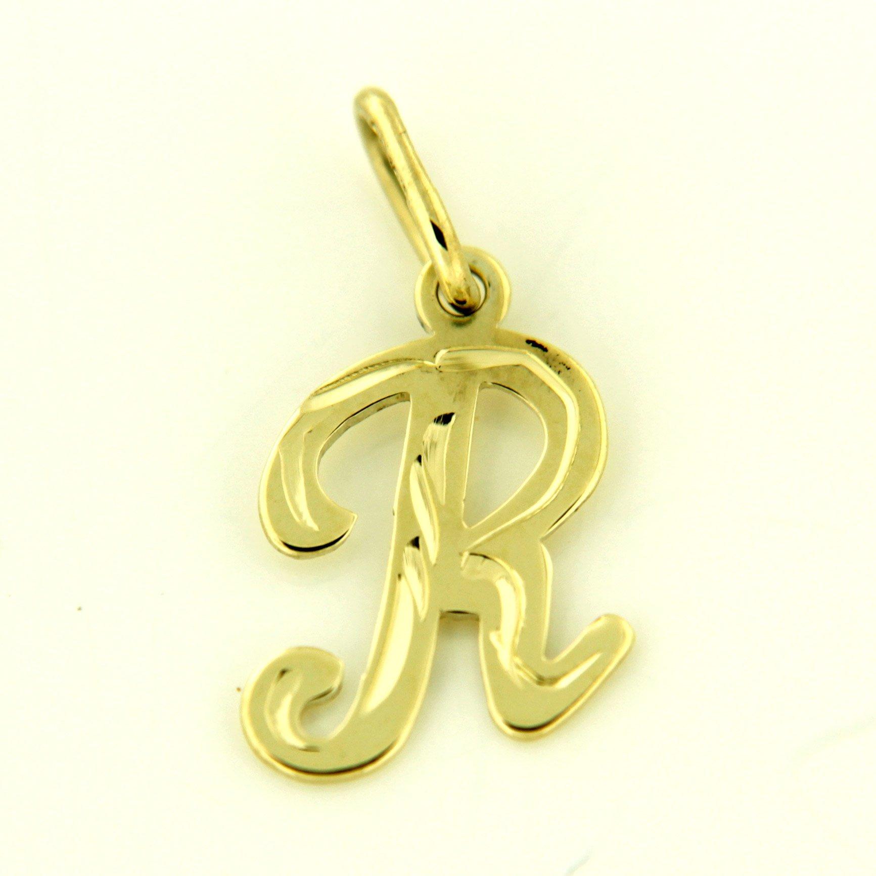 Zlaté přívěsky písmenka A - Z Písmeno: R