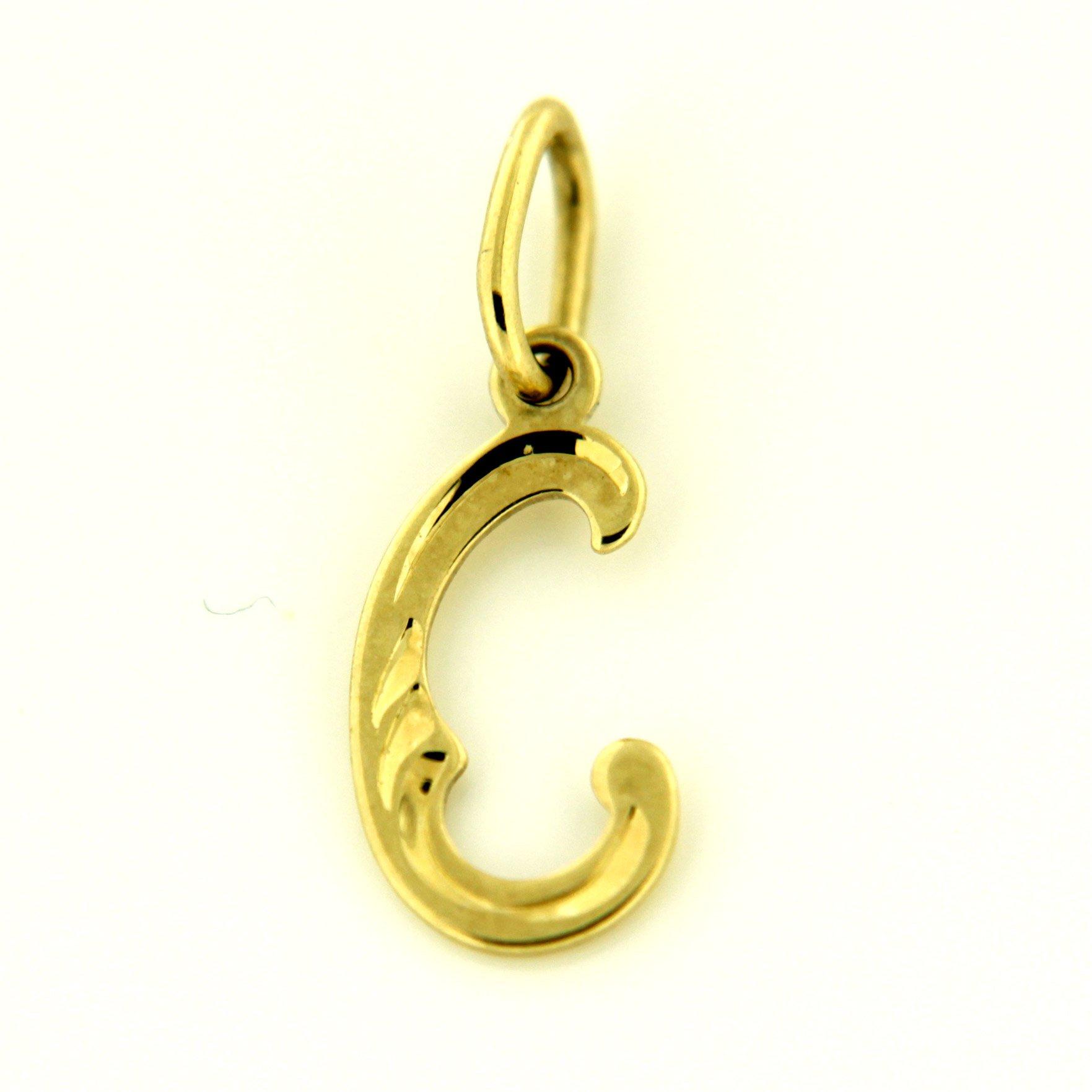 Zlaté přívěsky písmenka A - Z Písmeno: C