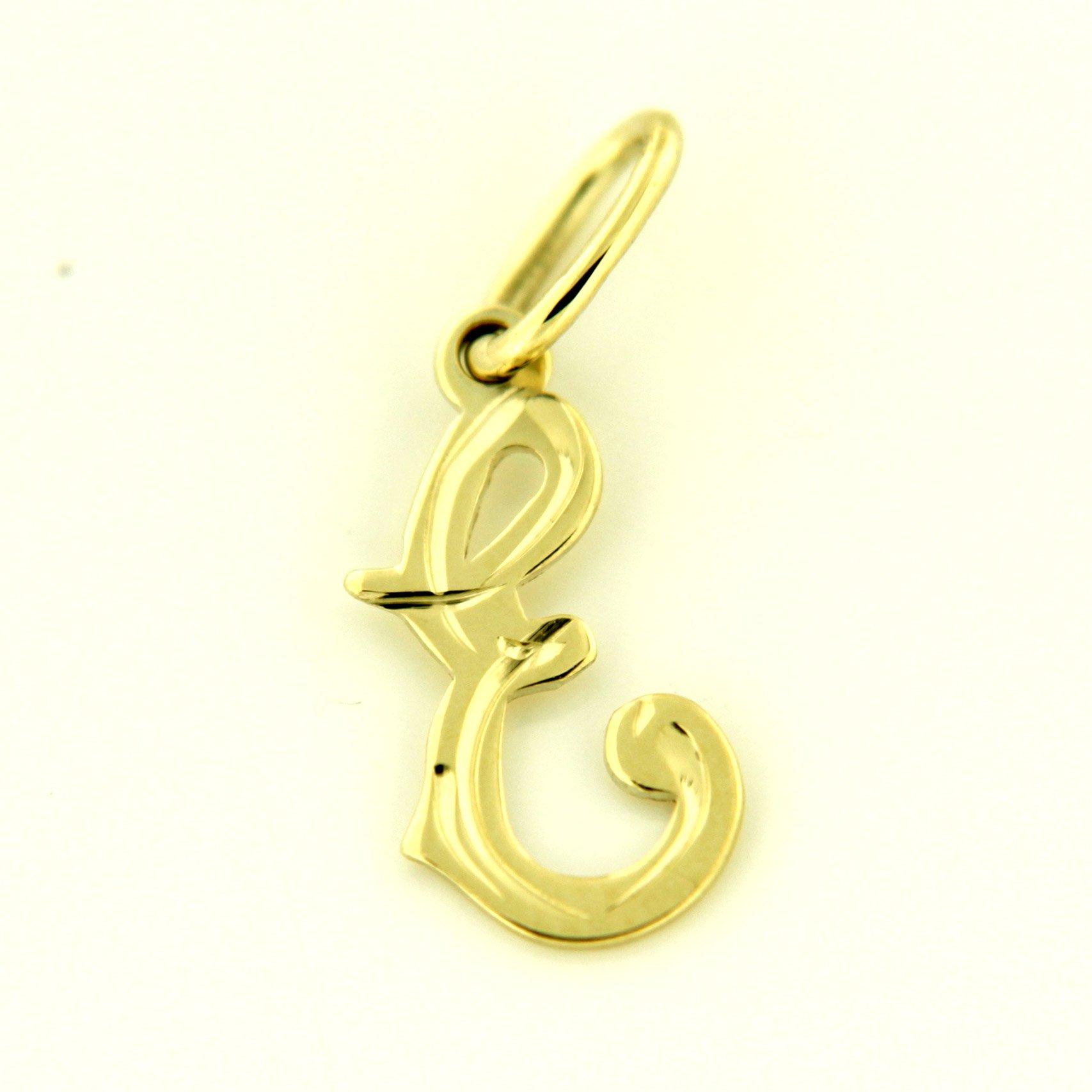 Zlaté přívěsky písmenka A - Z Písmeno: E