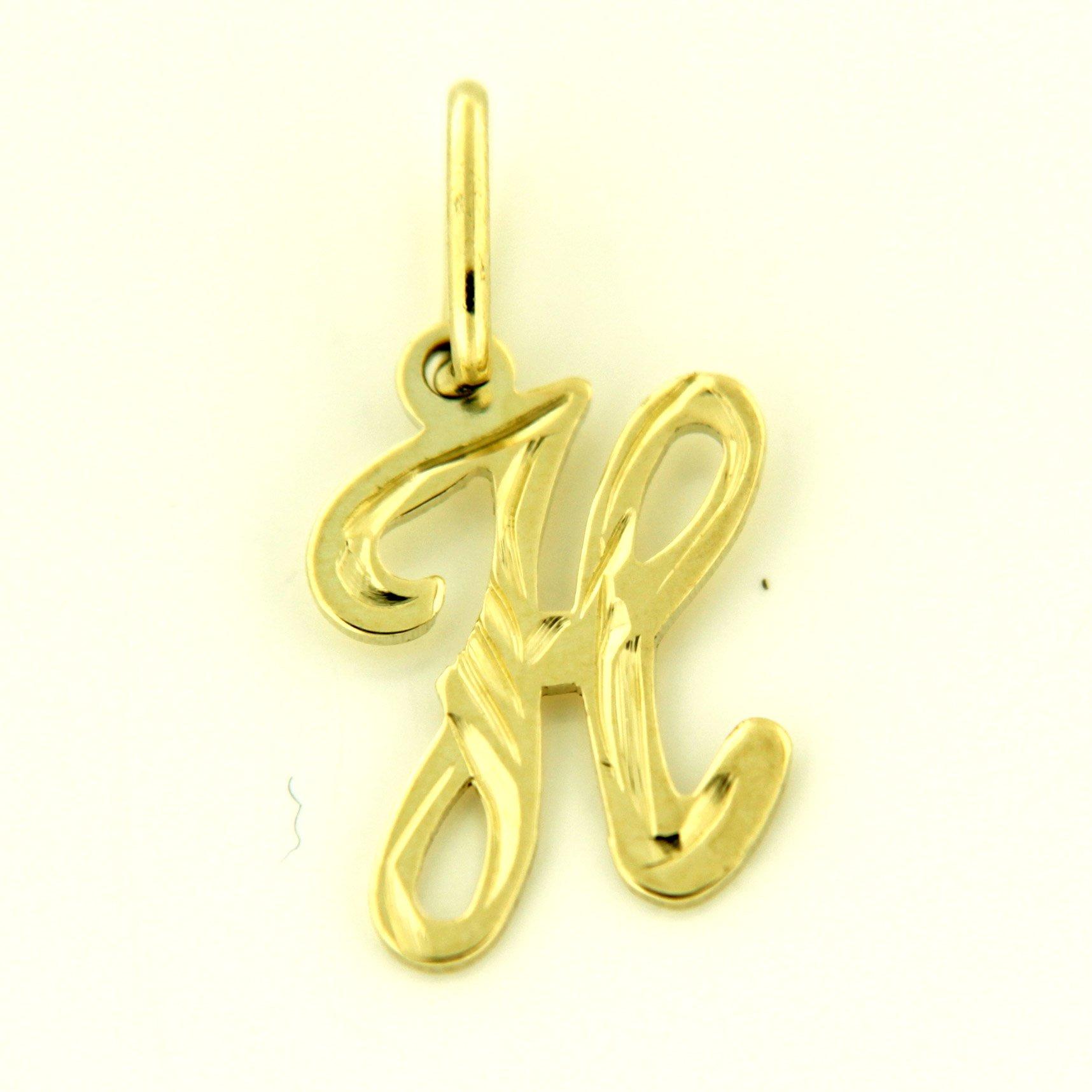 Zlaté přívěsky písmenka A - Z Písmeno: H