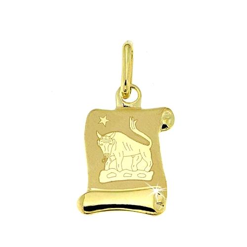 Zlatý přívěsek - znamení Býk