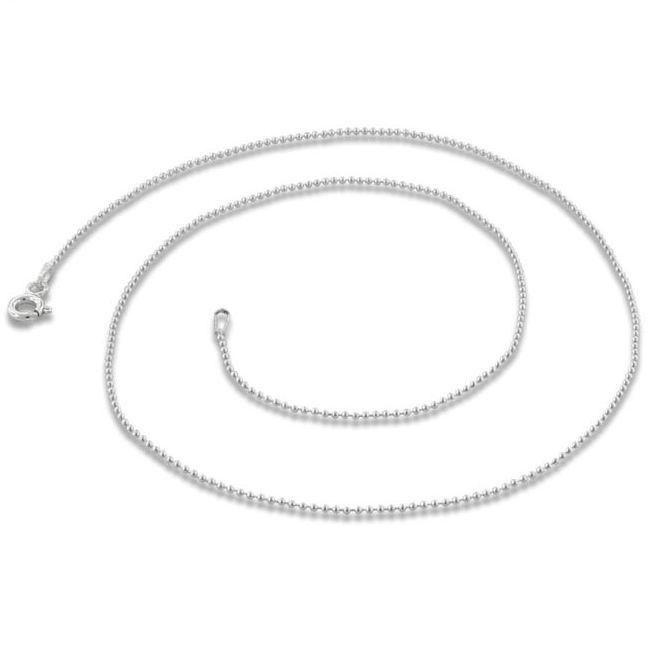 Šperky4U Stříbrný řetízek kuličkový 45 cm x 1 mm