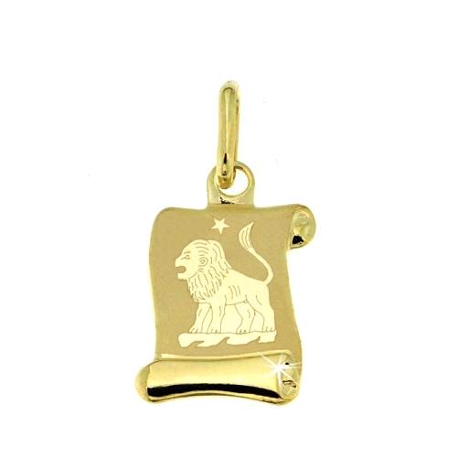 Zlatý přívěsek - znamení Lev